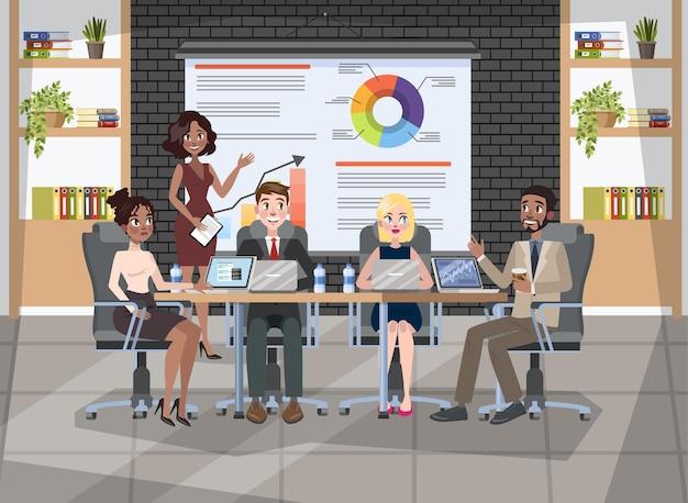 Grupo de pessoas em uma conferência. trabalhadores sentados