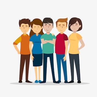 Grupo de pessoas juntos
