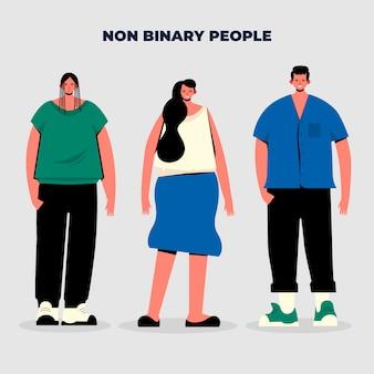 Grupo de pessoas não binárias