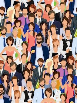 Grupo de pessoas sem costura padrão