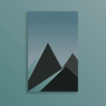 Grupo de pirâmide no tempo escuro na cor azul escuro