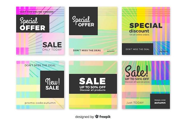 Grupo de publicação do instagram de venda de gradiente