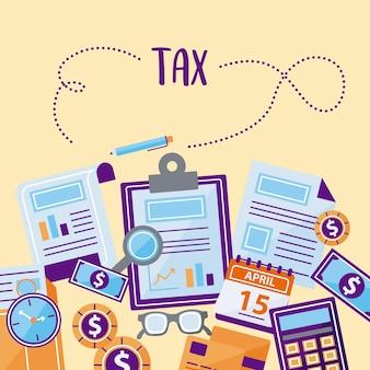 Grupo de símbolo de imposto