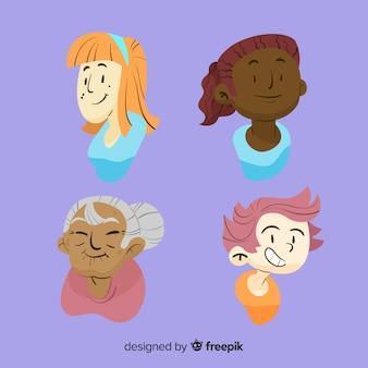 Grupo inter-racial de mulheres backgrpund