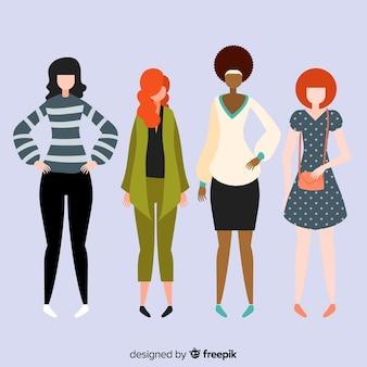 Grupo inter-racial de mulheres