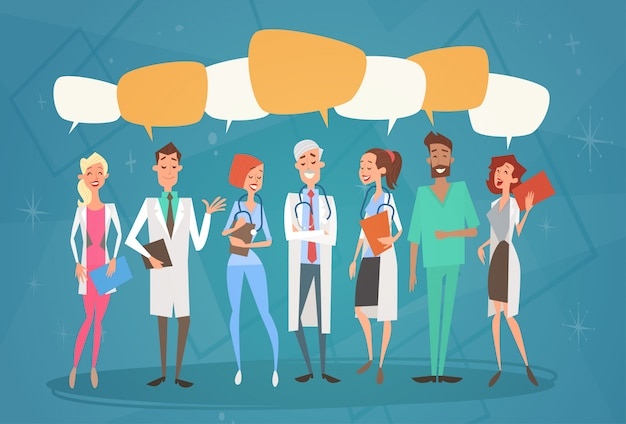 Grupo medial médicos chat bolha social rede comunicação equipe clinicas hospital