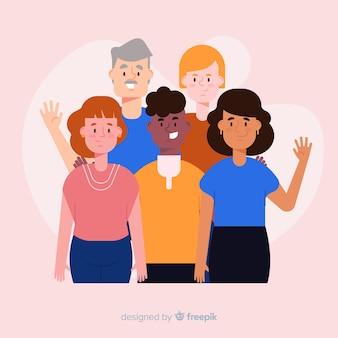 Grupo multirracial de fundo de pessoas