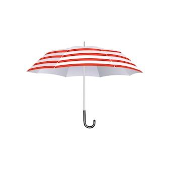 Guarda-chuva com listras vermelhas e brancas
