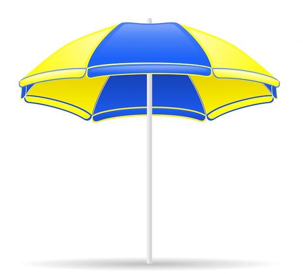 Guarda-chuva de cor de praia