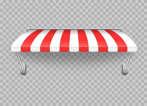 Guarda-chuva de toldo para o mercado, vieira listrada de verão para ilustração da loja