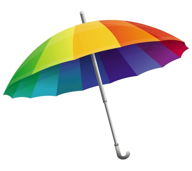 Guarda-chuva de vetor nas cores do arco-íris
