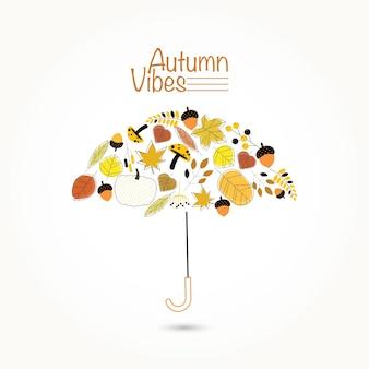 Guarda-chuva de vibrações de outono