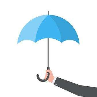 Guarda-chuva na mão. ilustração