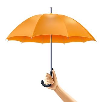 Guarda-chuva na mão