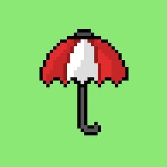 Guarda-chuva vermelho com estilo pixel art