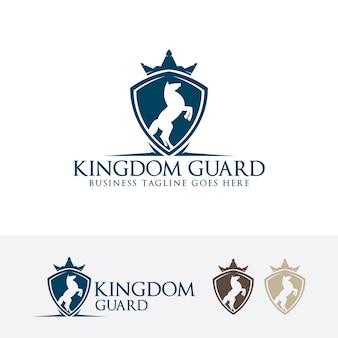 Guarda do reino, modelo do logotipo do vetor