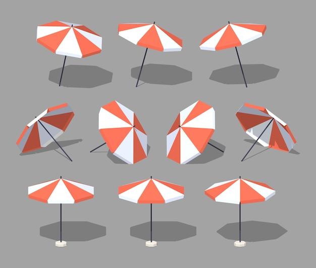 Guarda-sol. ilustração em vetor isométrica lowpoly 3d.