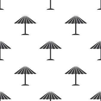 Guarda-sol, padrão sem emenda de vetor, editável pode ser usado para planos de fundo de páginas da web, preenchimentos de padrão