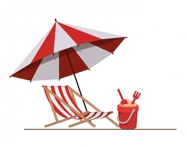 Guarda-sol para o verão listrado