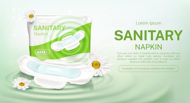 Guardanapos sanitários pacote de camomila flor