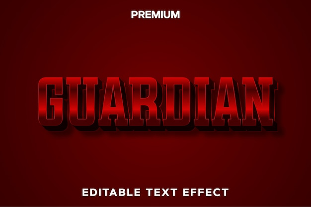 Guardian - efeito de texto no estilo do título do jogo premium