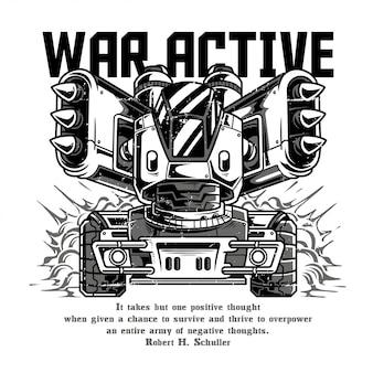 Guerra ativo preto e branco