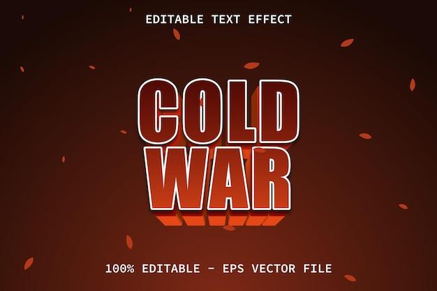 Guerra fria com efeito de texto editável de estilo moderno