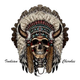 Guerreiro do apache do crânio