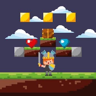 Guerreiro do jogo de pixels