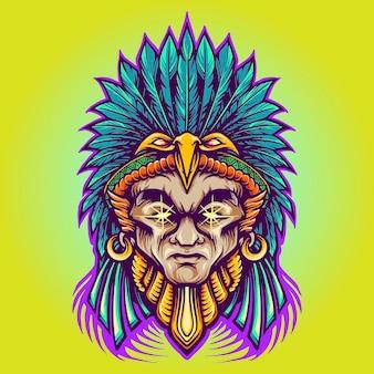 Guerreiro índio americano asteca