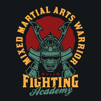 Guerreiro samurai de artes marciais