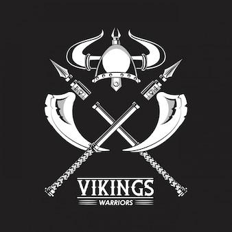 Guerreiros de viquingues impressos