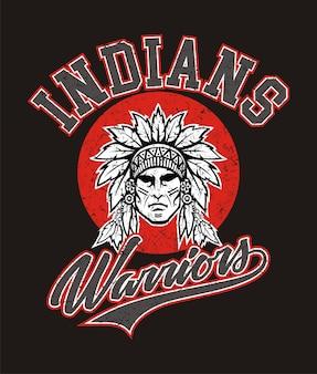 Guerreiros índios para t-shirt