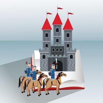 Guerreiros medievais do reino