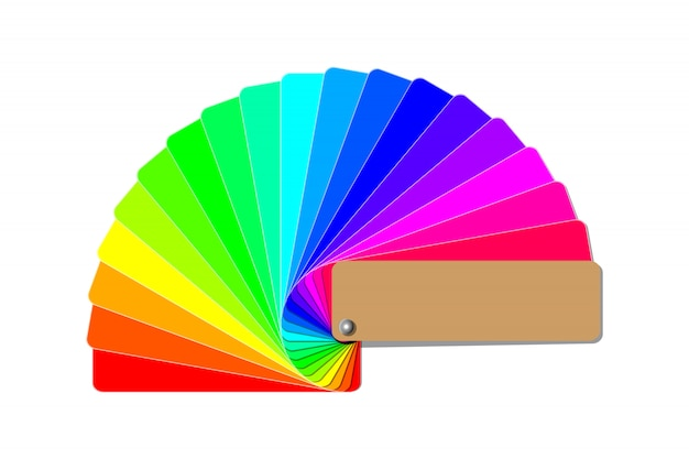 Guia da paleta de cores, livro de amostras colorido amostra de arco-íris