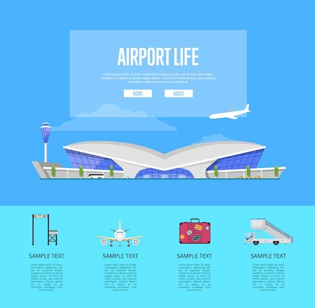 Guia internacional da vida no aeroporto de passageiros