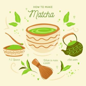 Guia sobre como fazer chá matcha