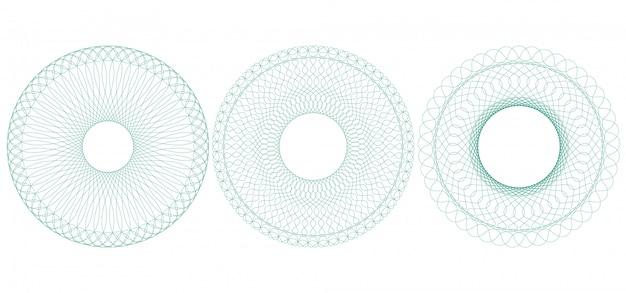 Guilloché circular, ilustração. roseta de linhas finas.