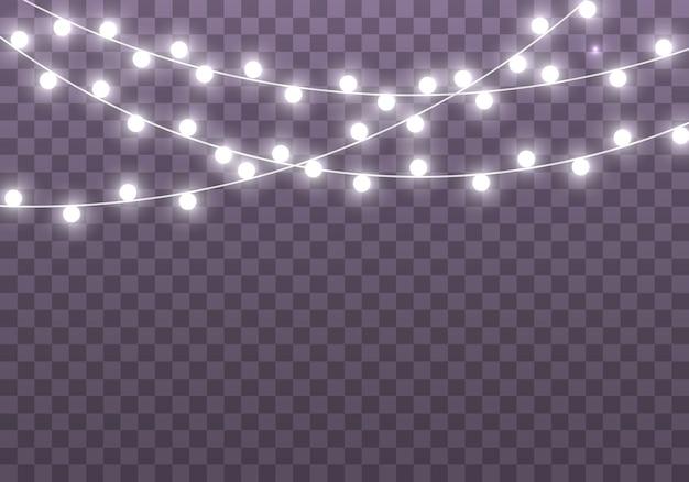 Guirlanda brilhante de luzes de natal