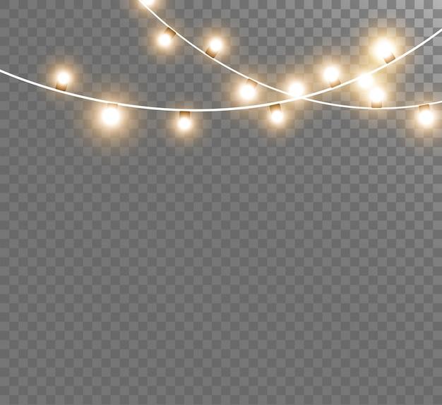 Guirlanda de ano novo lindo brilhante. luzes. ilustração