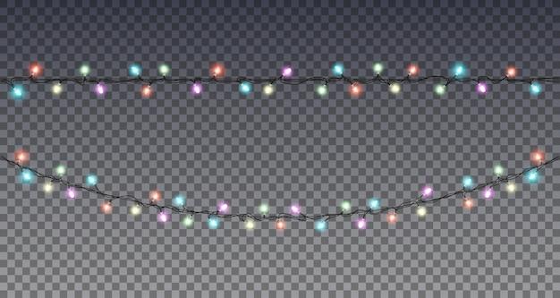 Guirlanda de ano novo. luzes de natal