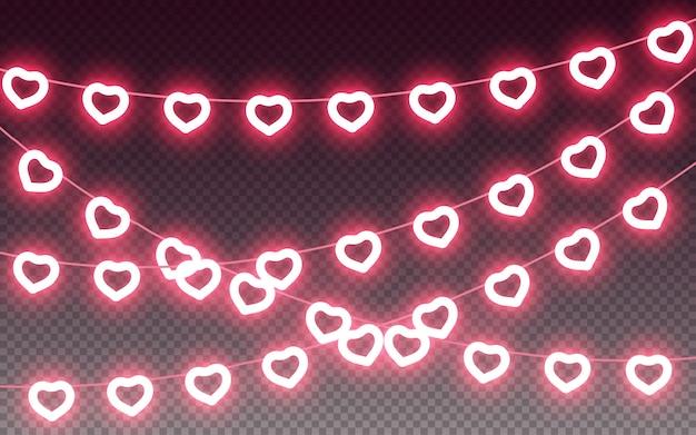 Guirlanda de lâmpada de coração