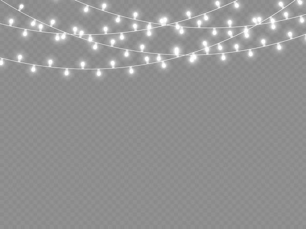 Guirlanda de luz branca levou luzes de néon decorações de natal