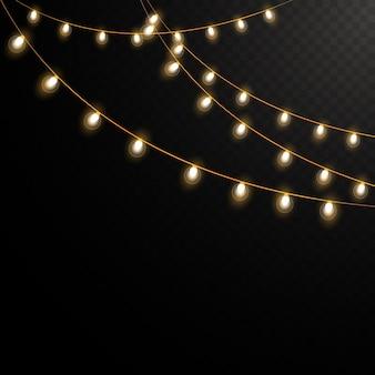 Guirlanda de luz vintage isolada
