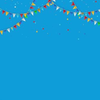 Guirlanda de sinalizadores triangulares para aniversário, feriado, festa.