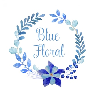 Guirlanda floral azul