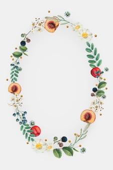 Guirlanda floral com espaço de design