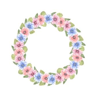 Guirlanda floral de verão