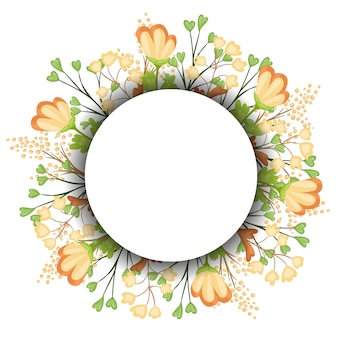 Guirlanda floral para rótulo vintage. ilustração.