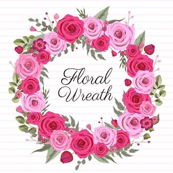 Guirlanda floral rosa